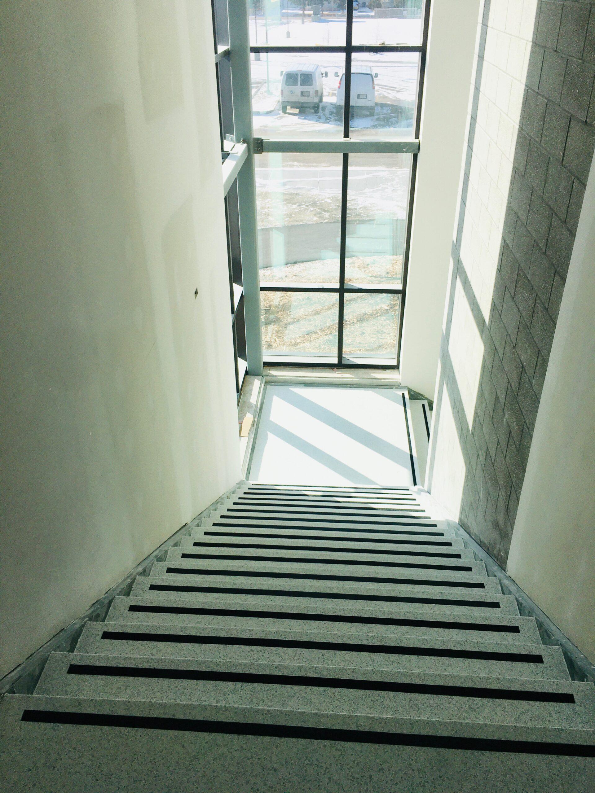 Weyburn School Terrazzo Stairs